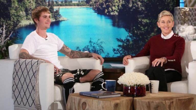 Justin Bieber on Ellen.