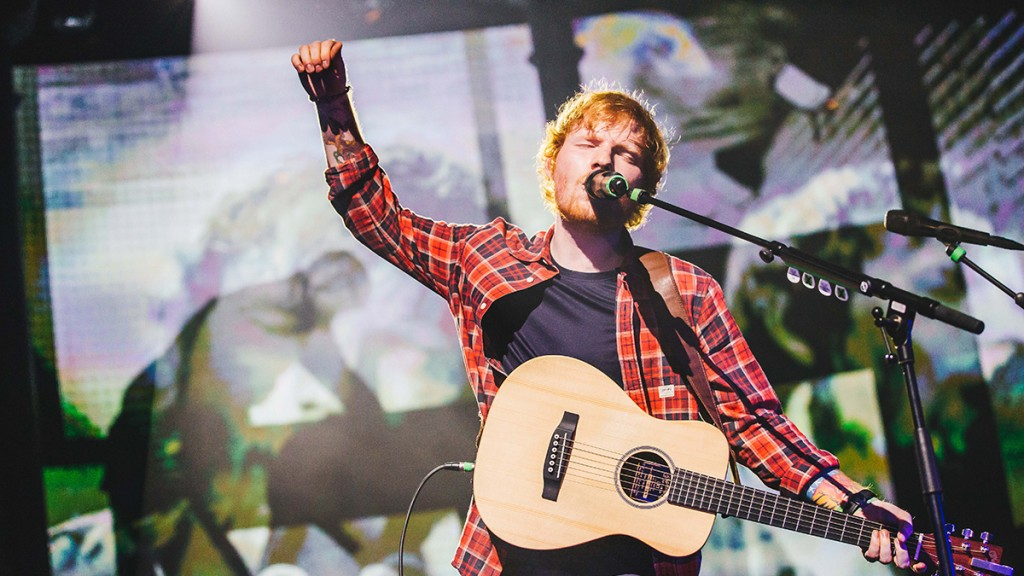 Ed Sheeran performs at the 2014 iTunes Festival at the Roundhouse in London, England (Press Photo)
