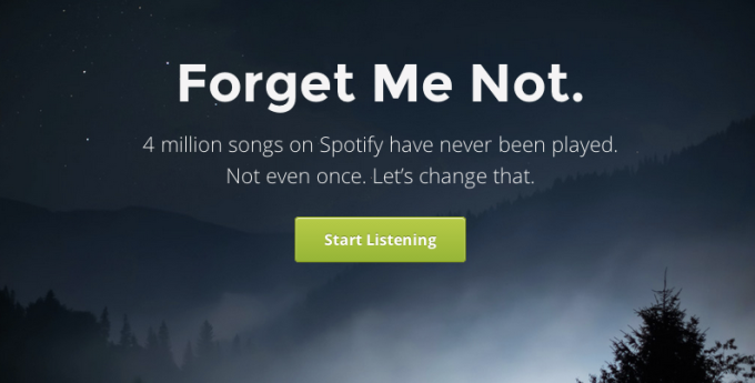 Forgotify plays only songs that have zero plays on Spotify