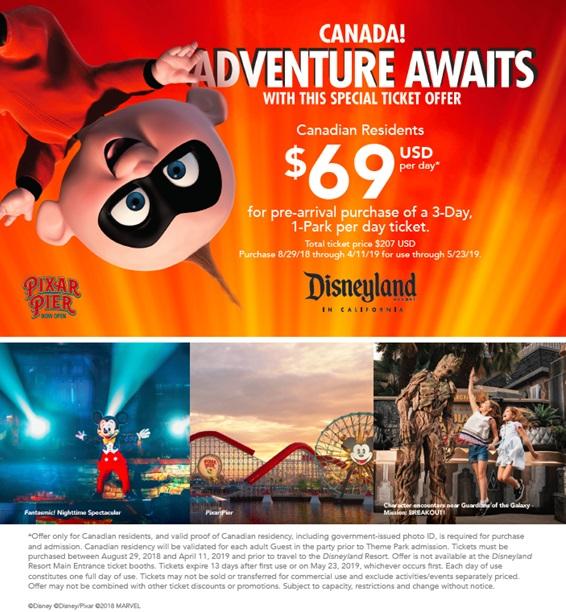 Disneyland Canadian Discount